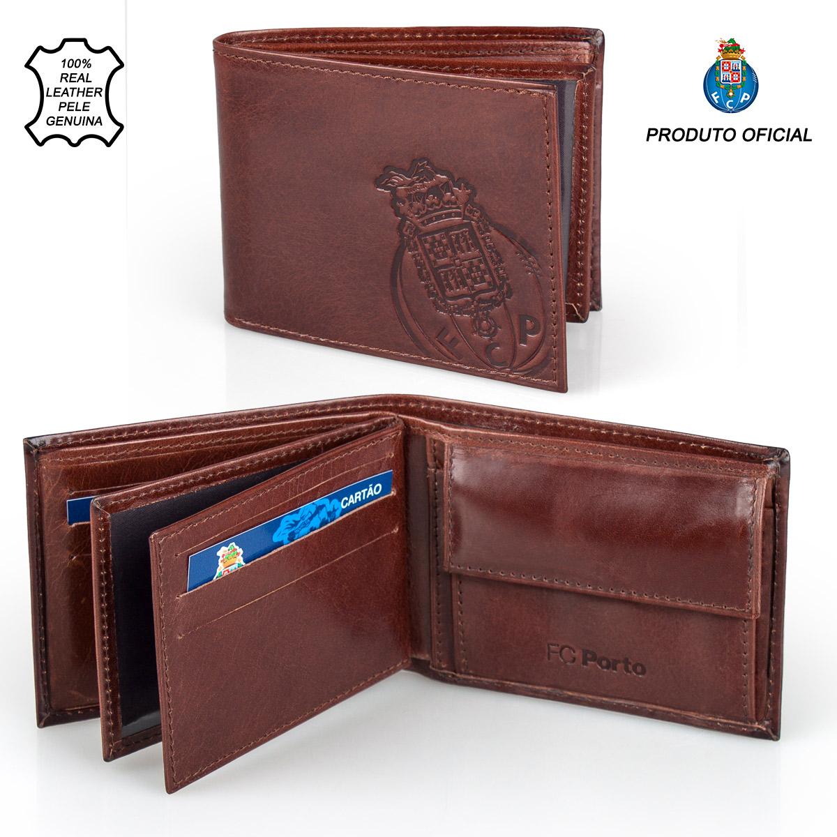 Leather Wallet F.C. PORTO Brown 11.5cm – image 1