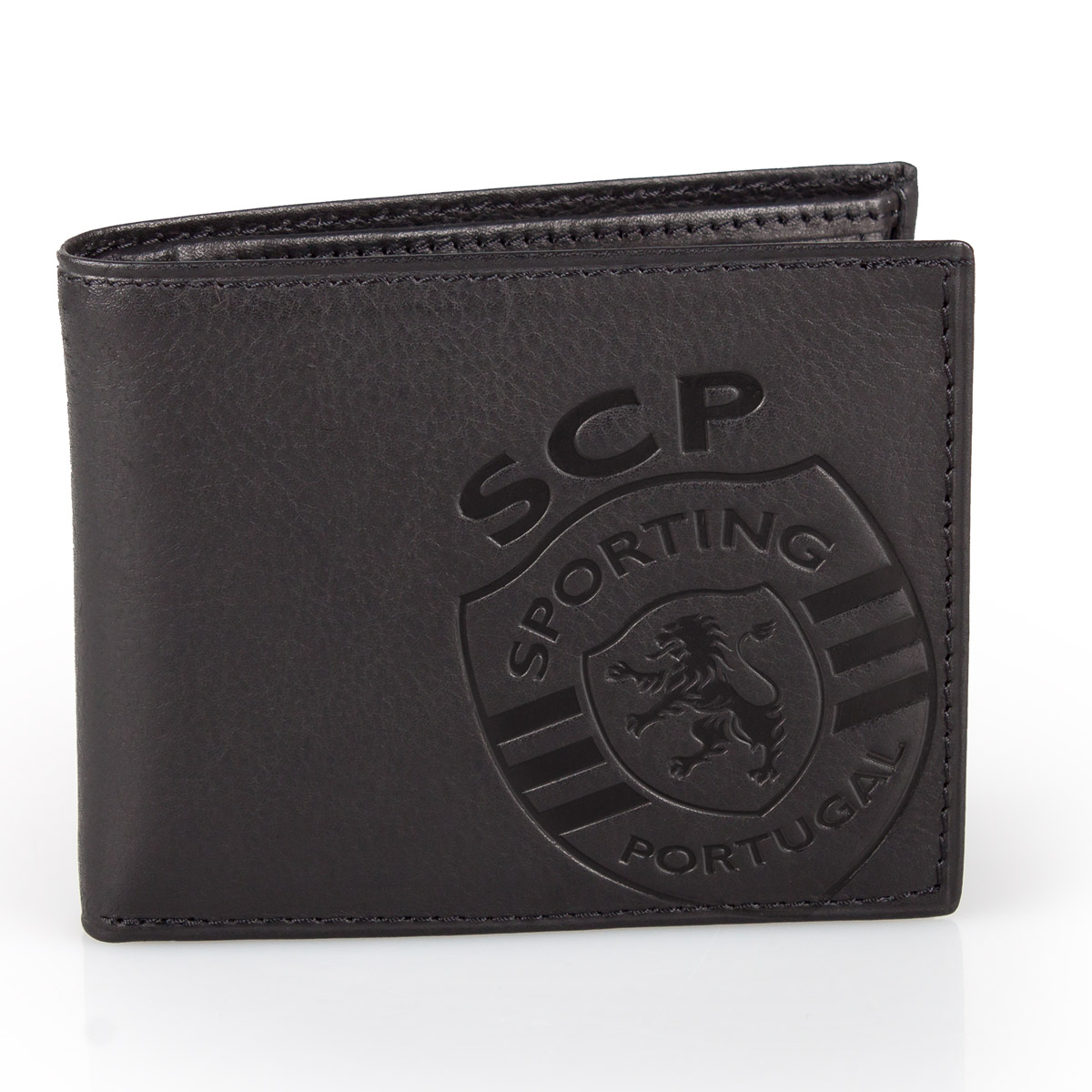 Leather Wallet SPORTING C.P. Black 11.5cm – image 2