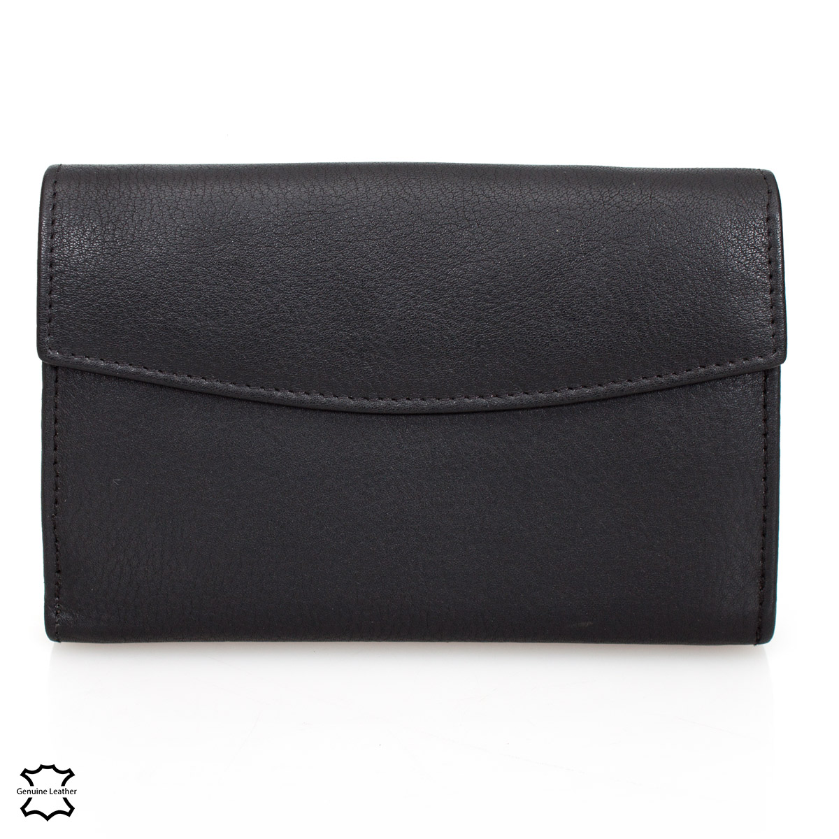 DELBAG Womens Leather Wallet 14cm Black – image 3