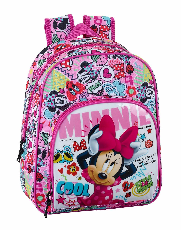 "Mochila Média Minnie Mouse ""Cool"" 34cm – image 1"