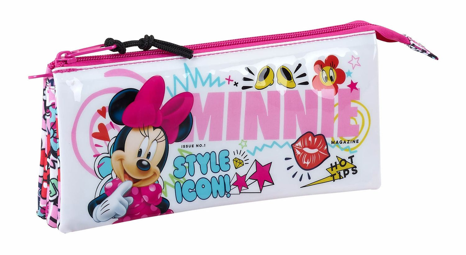 "Minnie Mouse ""Cool"" Triple Pencil Case"