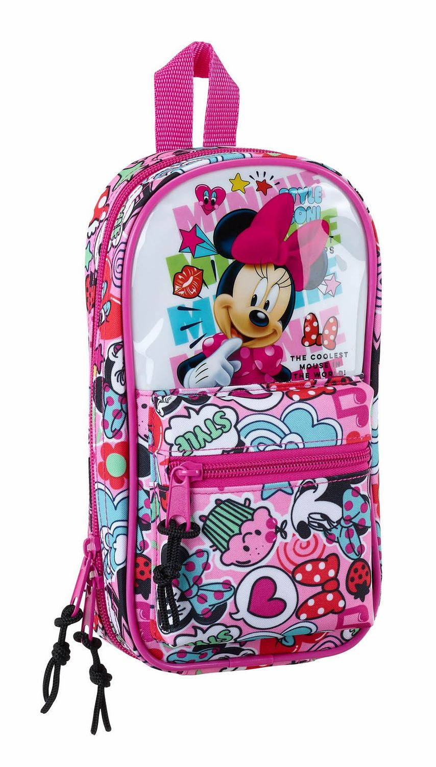 "Minnie Mouse ""Cool"" 2 in 1 Pencil Case Backpack with 4 Empty Pencil Cases  – image 1"
