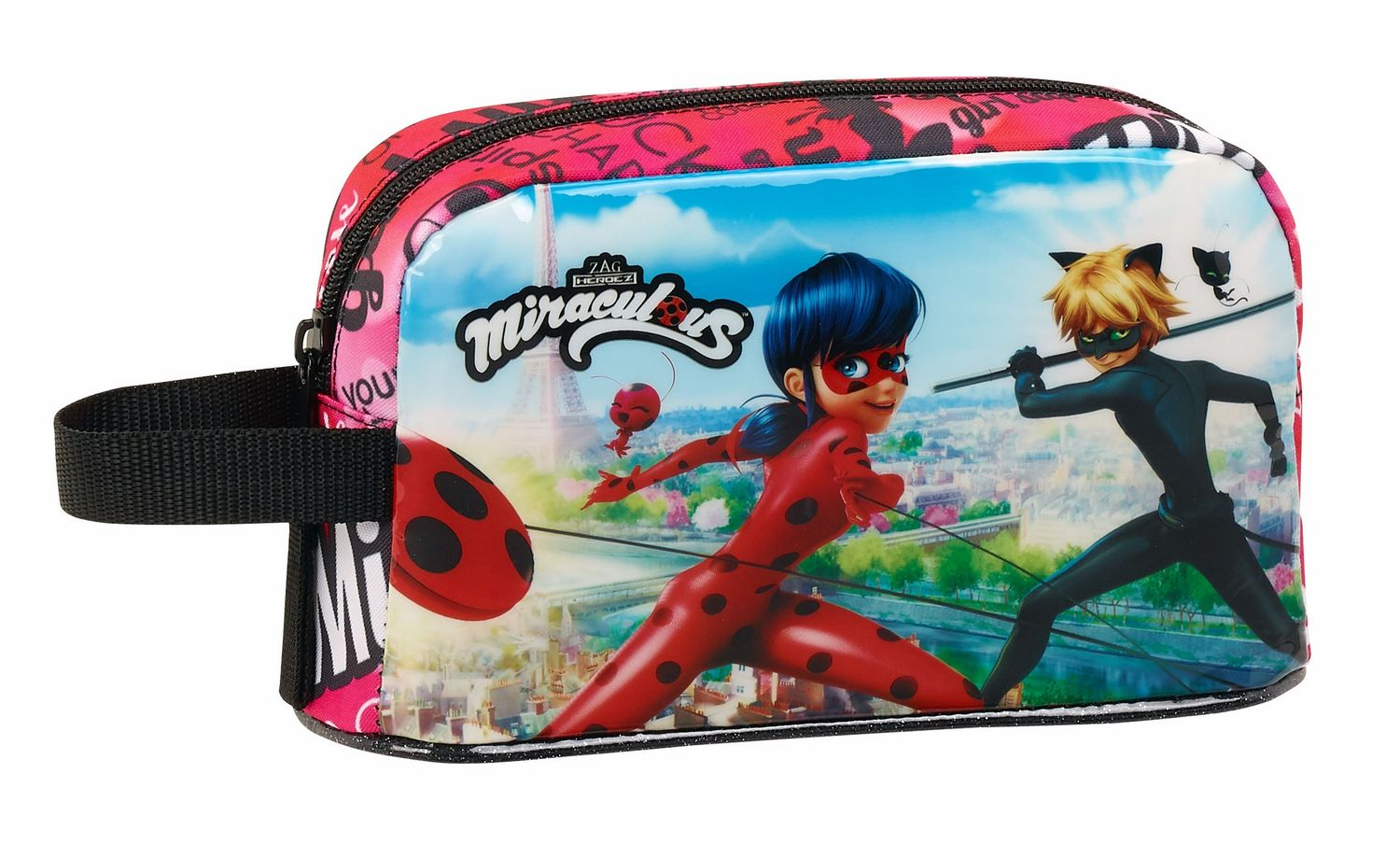 Be Miraculous Ladybug & Cat Noir Insulated Lunch Breakfast Bag