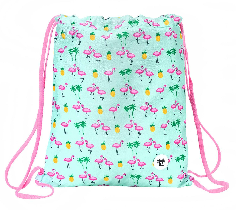 """Saco De Cordão Para Ginásio Glowlab """"Tropic"""" Flamingo 40 cm  – image 2"""