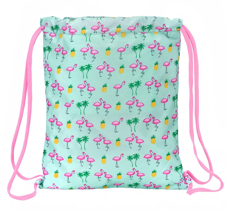 """Saco De Cordão Para Ginásio Glowlab """"Tropic"""" Flamingo 40 cm  – image 3"""