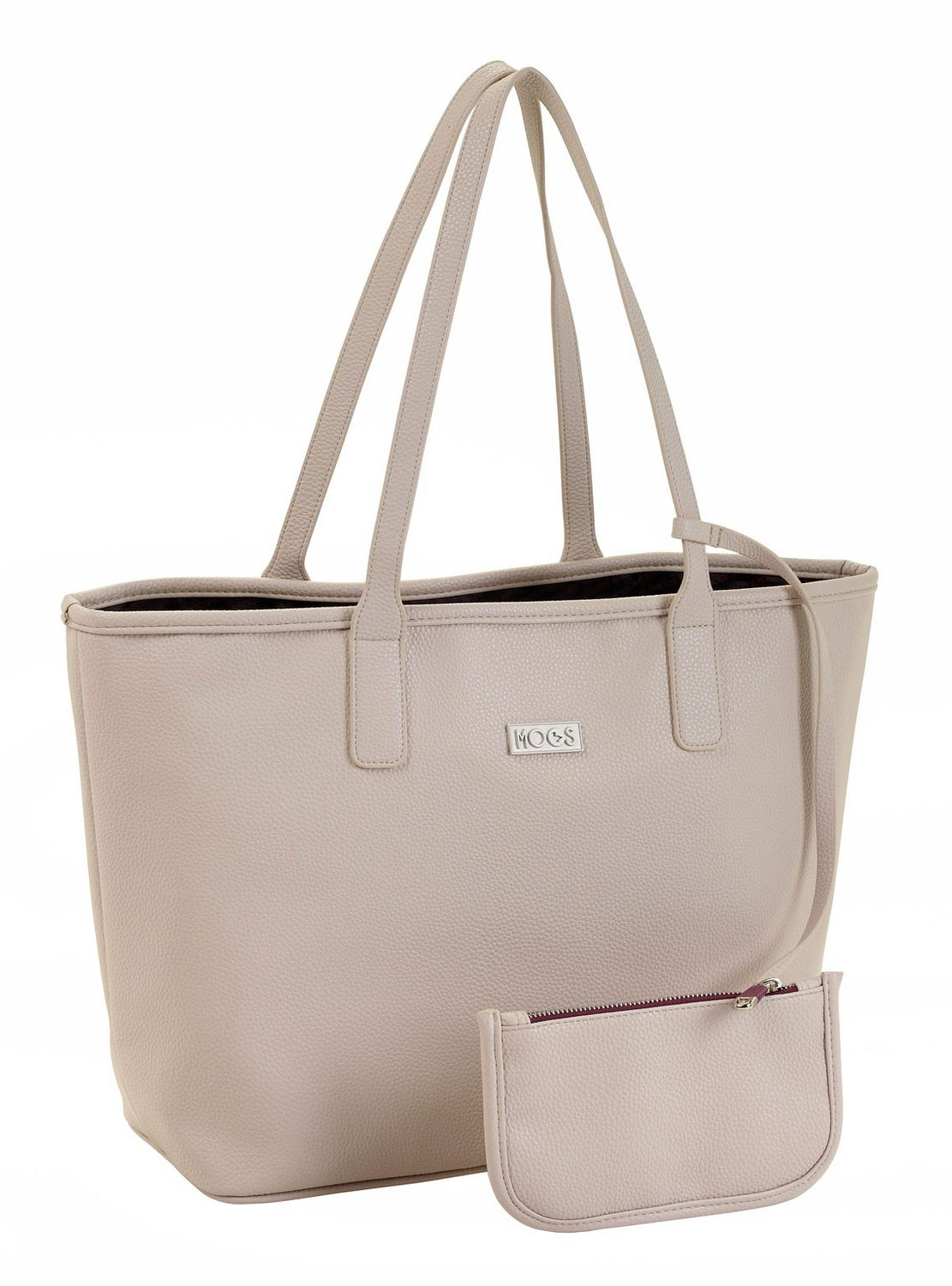 "MOOS ""Capsula BEIGE"" Deluxe Tote Shopping Bag With Purse"