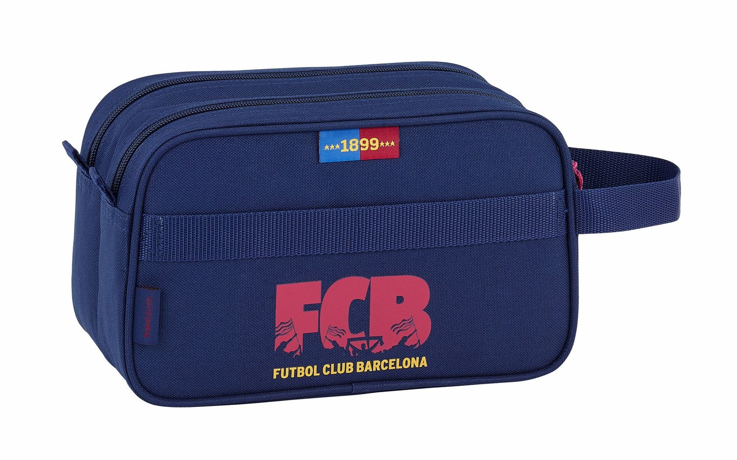 OFFICIAL F.C. Barcelona Corporate Wash Travel Bag 2 Zips 26 cm – image 2