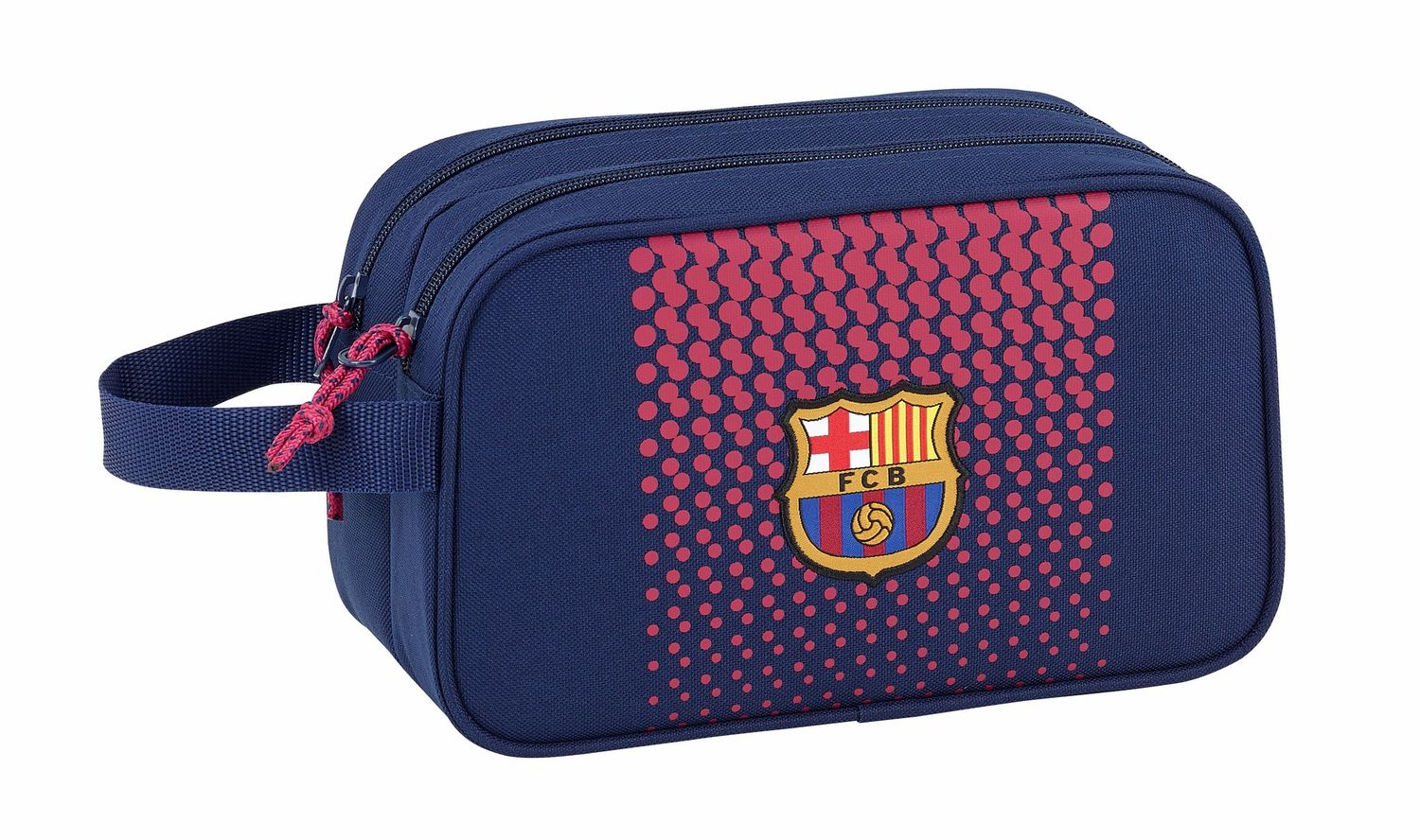 OFFICIAL F.C. Barcelona Corporate Wash Travel Bag 2 Zips 26 cm