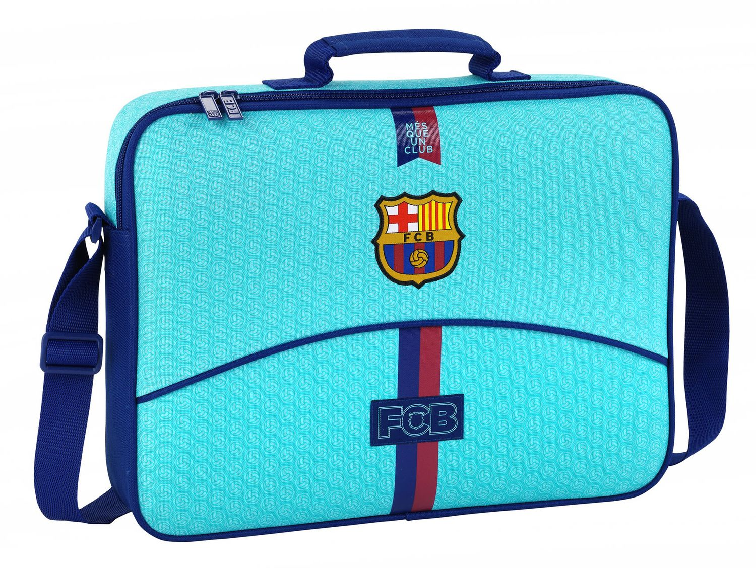 OFFICIAL F.C. Barcelona  2nd Kit School Briefcase Messenger Bag – image 1