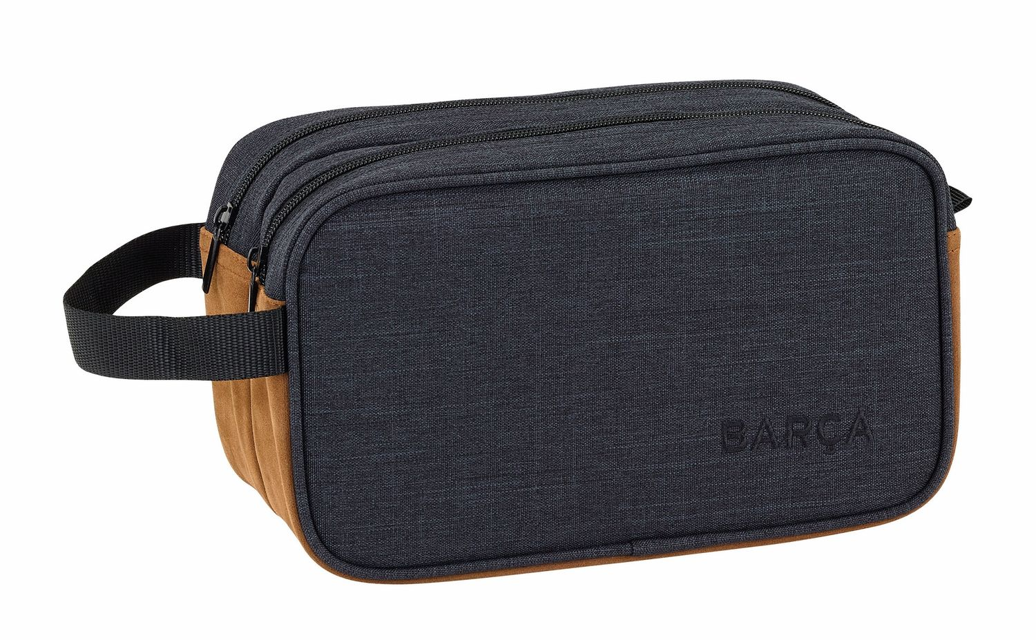 OFFICIAL F.C. Barcelona CASUAL Wash Travel Bag 2 Zips 26 cm