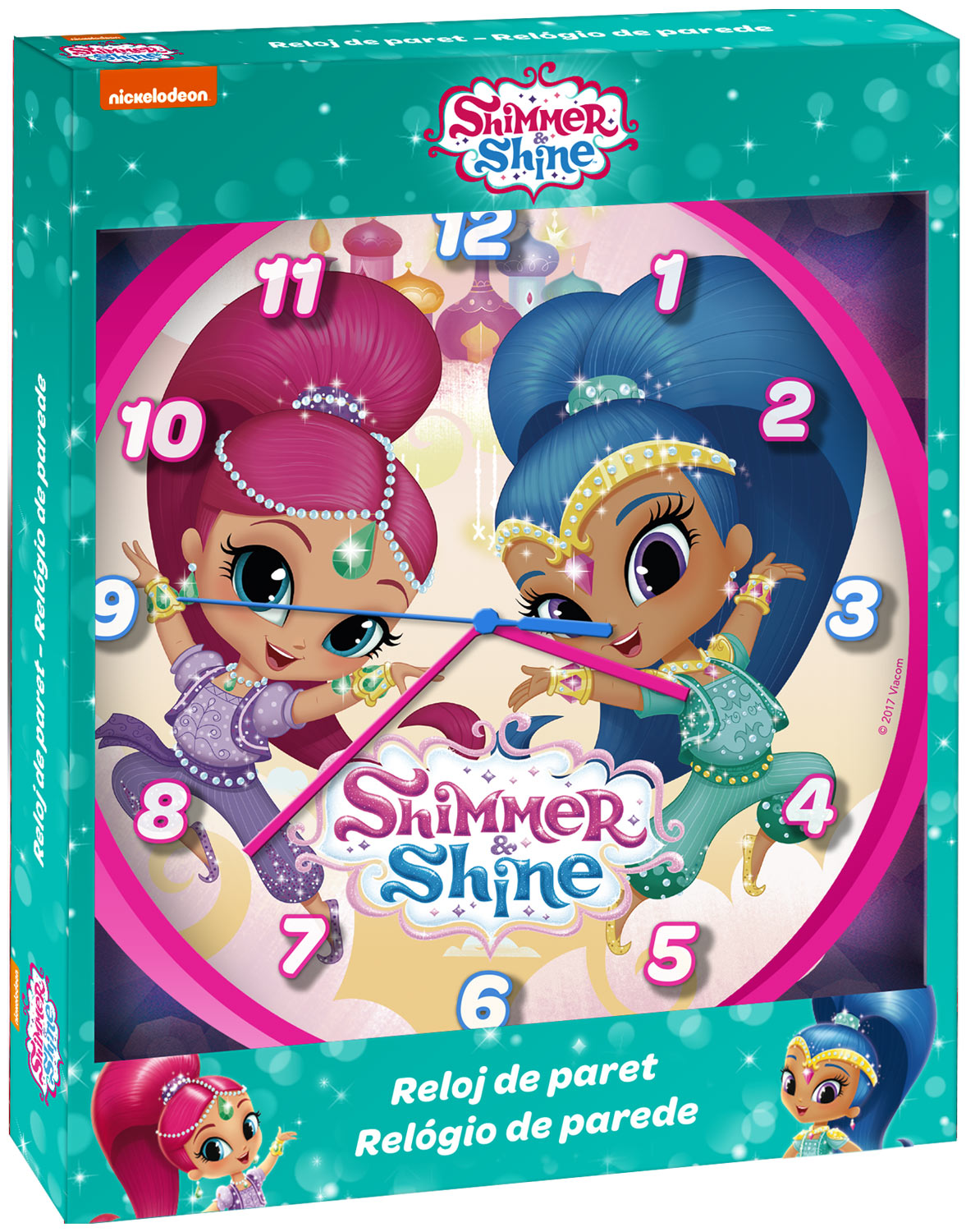 Shimmer and Shine Wall Clock 25cm