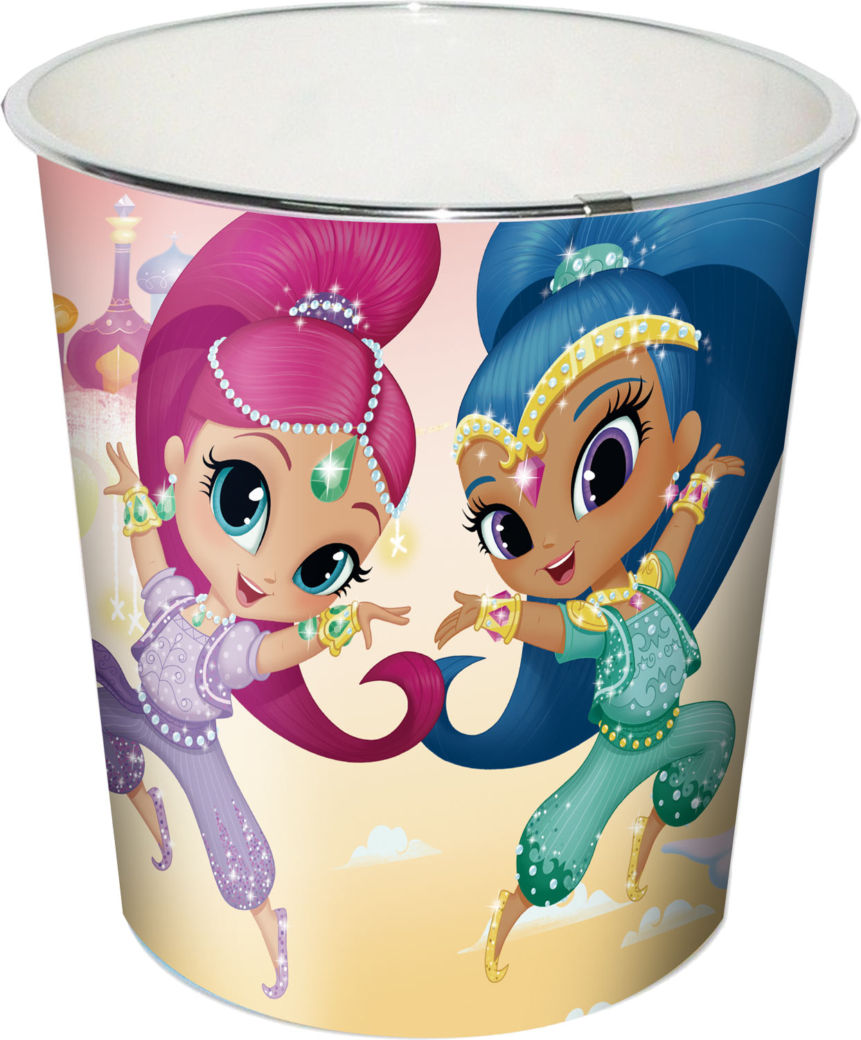 Shimmer and Shine Kids Bedroom Set Blanket Cushion and Bin – image 3