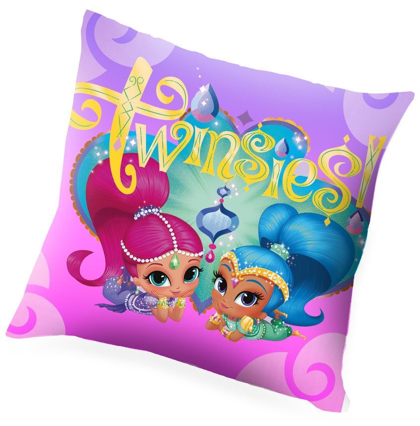 Shimmer and Shine Kids Bedroom Set Blanket Cushion and Bin – image 2