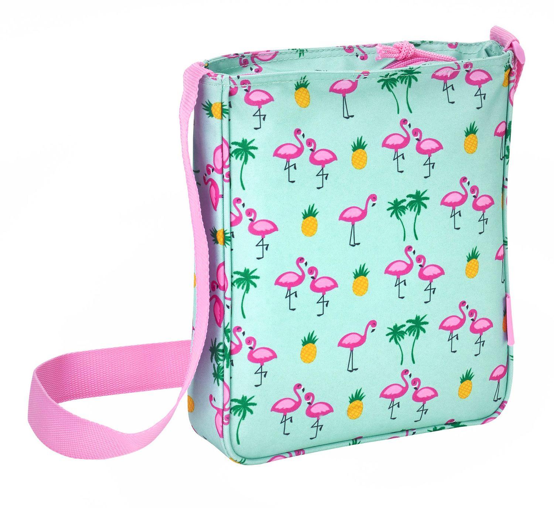 "Glowlab ""Tropic"" Flamingo Shoulder Messenger Bag 21cm – image 2"