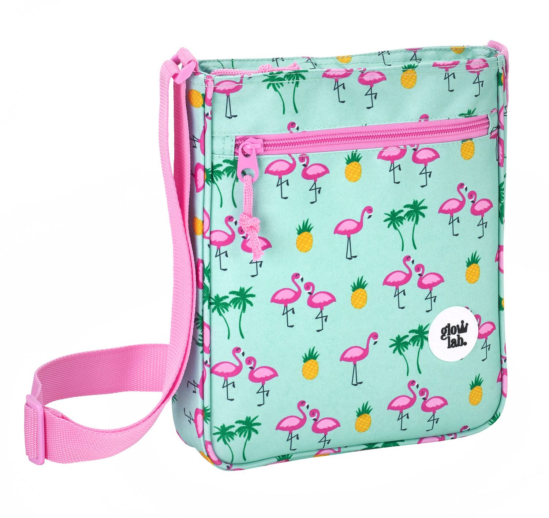 "Glowlab ""Tropic"" Flamingo Shoulder Messenger Bag 21cm"