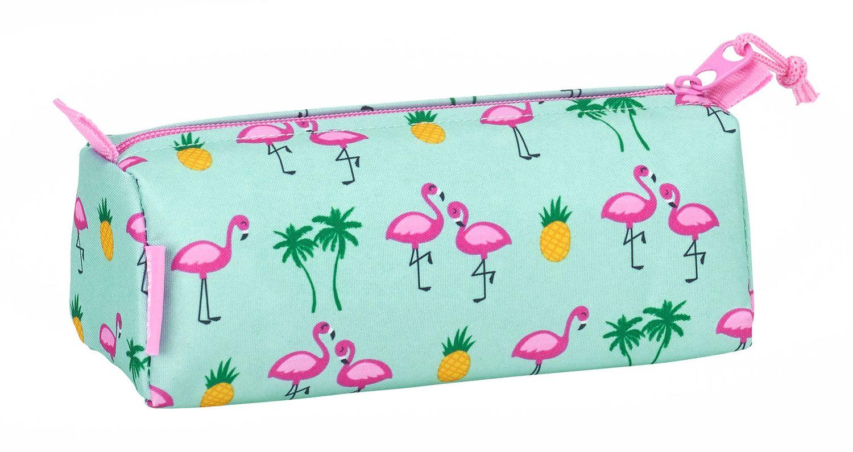 "Glowlab ""Tropic"" Pink Flamingo Square Pencil Case – image 2"