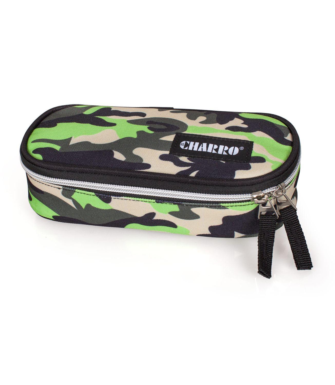 EL CHARRO Green Camo Oval Pencil Case