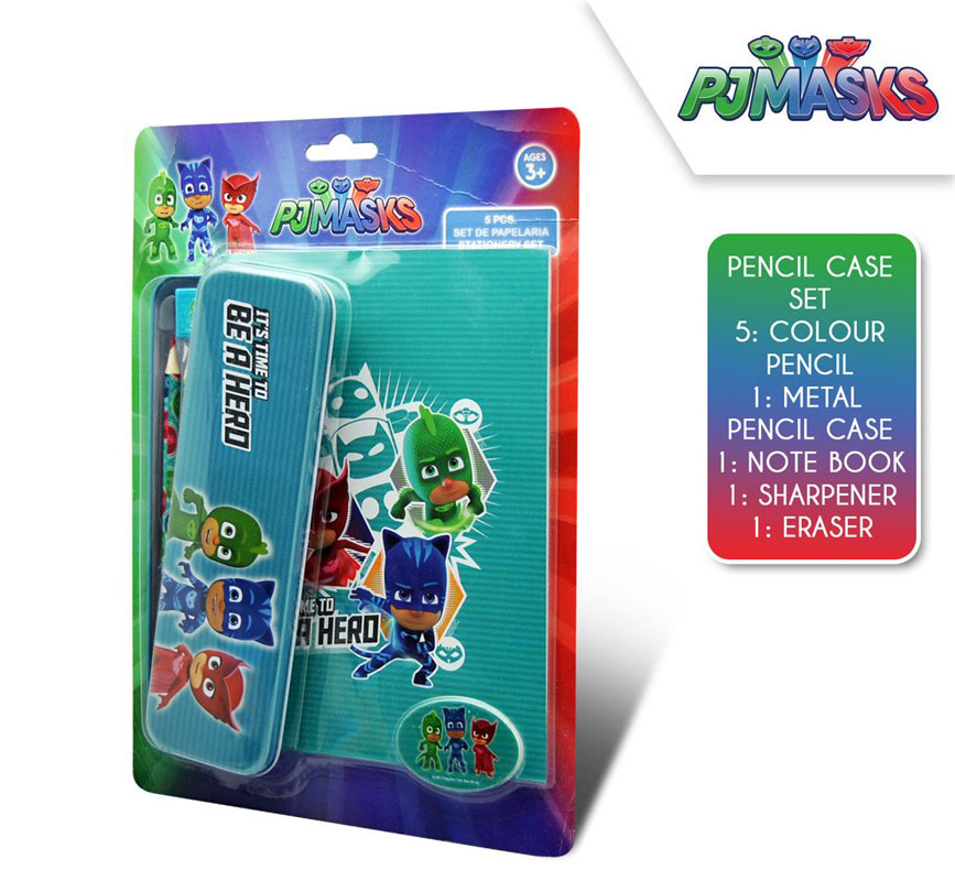 PJ Masks Stationery Set 5 Piece With Pencil Case – image 1
