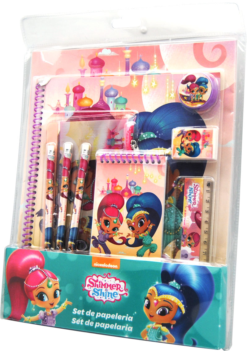 Shimmer and Shine Stationery Set With Notebook 11 Piece