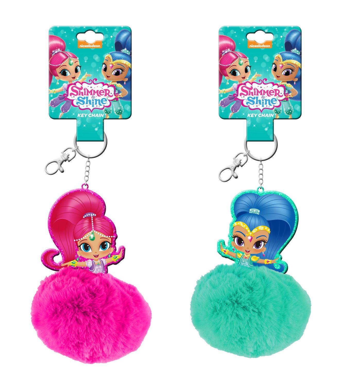 Shimmer and Shine Fluffy Pompom Key Ring – image 1
