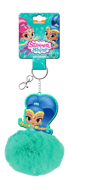 Shimmer and Shine Fluffy Pompom Key Ring – image 3