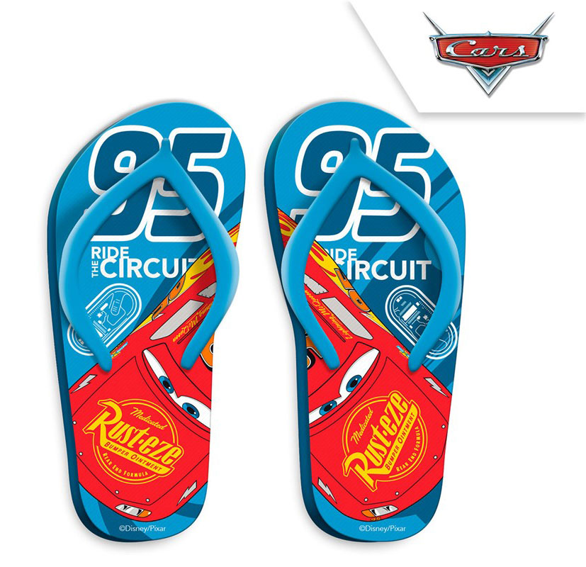 Disney Cars 3 Basic Blue Flip Flops