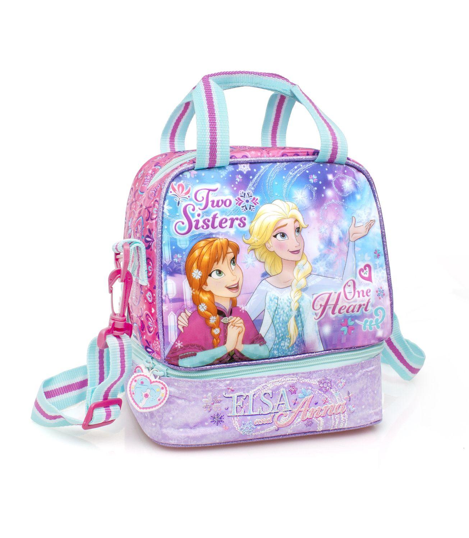 Disney Frozen Premium Double Cooler Lunch Bag ONE HEART – image 1