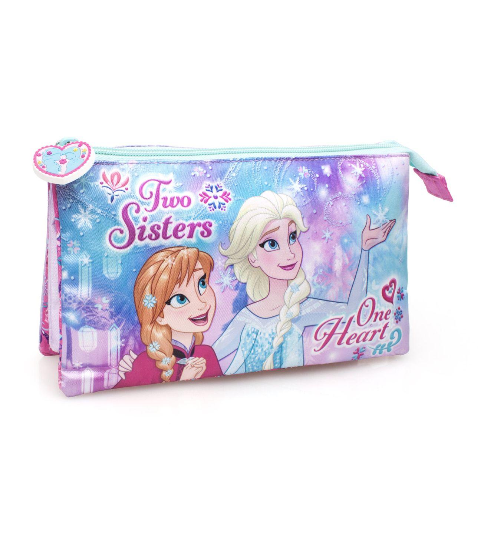 Disney Frozen Premium Triple Pencil Case ONE HEART – image 1