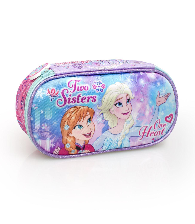 Disney Frozen Premium Oval Pencil Case ONE HEART – image 1