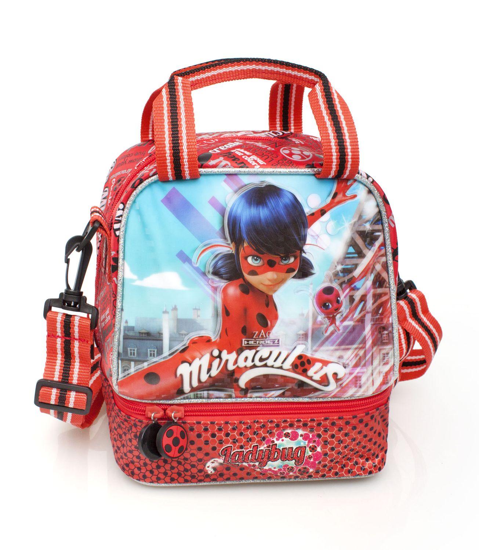 Miraculous Ladybug Premium Double Cooler Lunch Bag DOTS – image 1