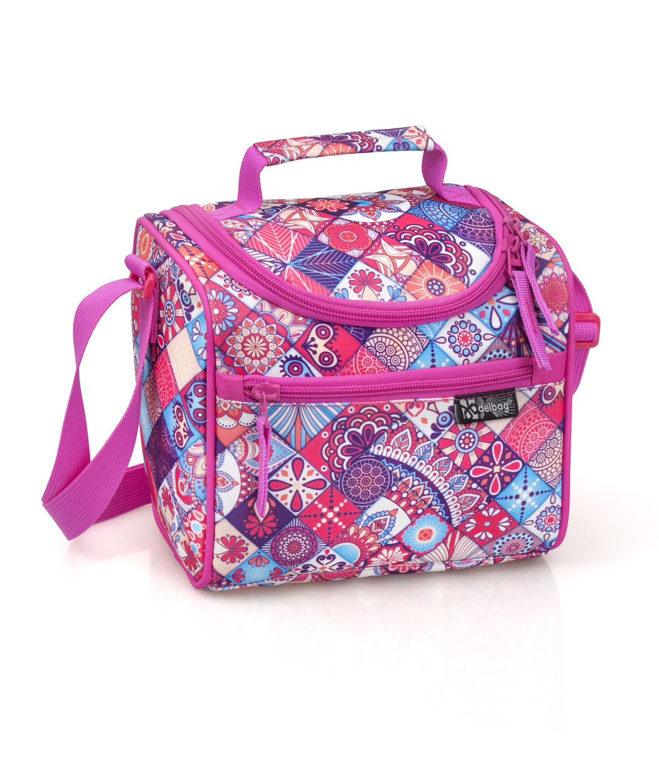 Delbag TILES Pink Cooler Lunch Bag