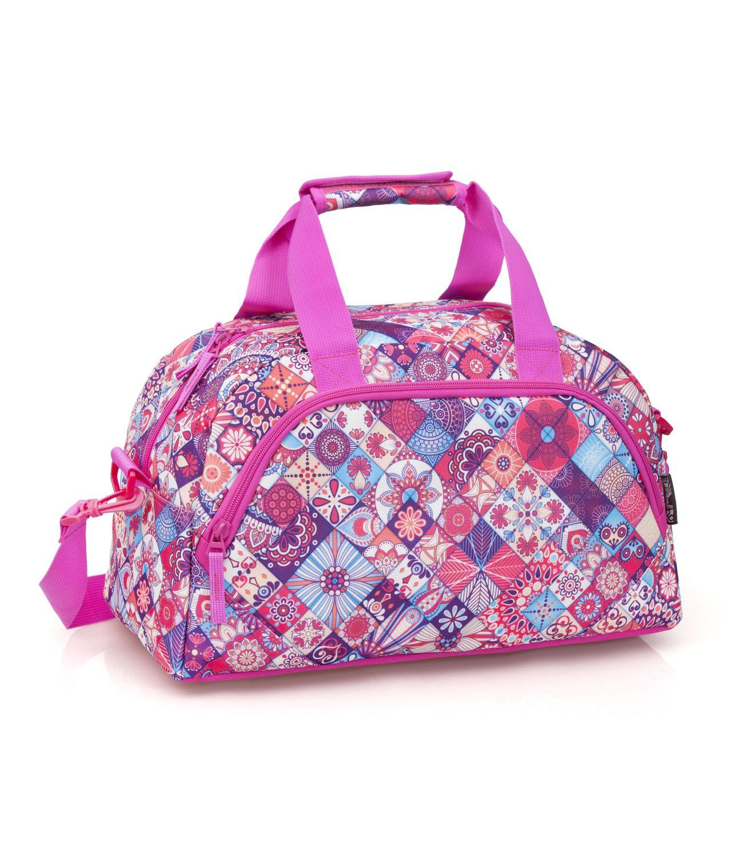 Delbag TILES Pink Duffel Travel Gym Bag