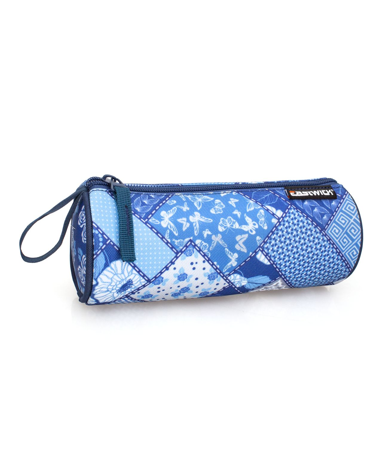 Eastwick PATCHWORK Blue Tube Pencil Case