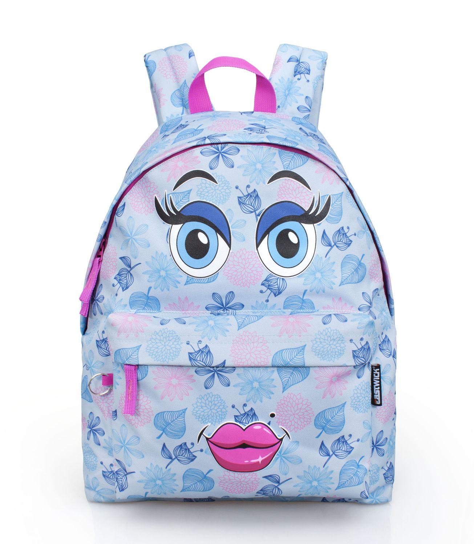 Ladies Girls Backpack Eastwick FULL LIPS BLUE