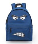 Eastwick ANGRY Face Blue Backpack 001