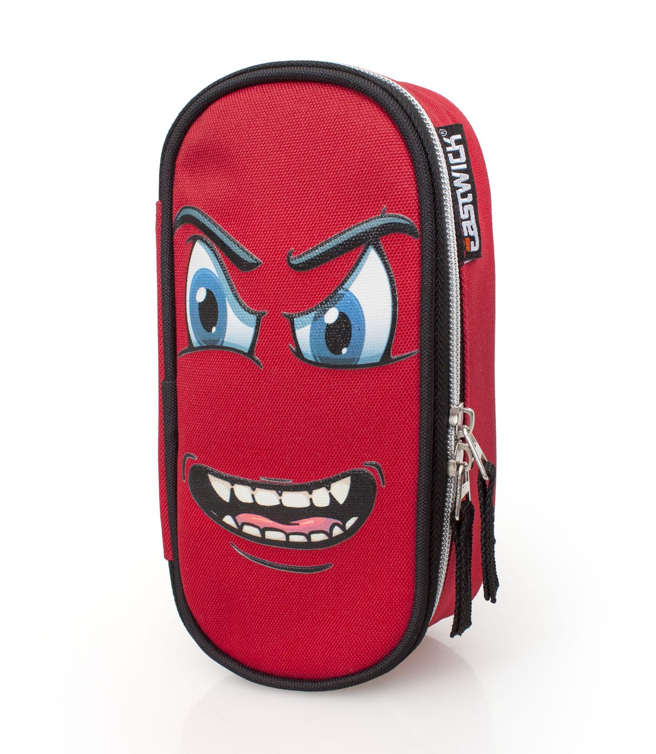 Eastwick MAD FACE RED Oval Pencil Case