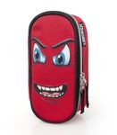 Eastwick MAD FACE RED Oval Pencil Case 001