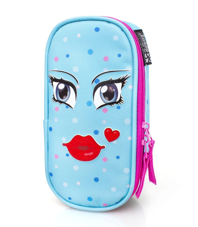 Eastwick KISS BLUE Oval Pencil Case