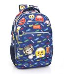 MAD EMOJI Official Triple Compartment Laptop Backpack Blue 001