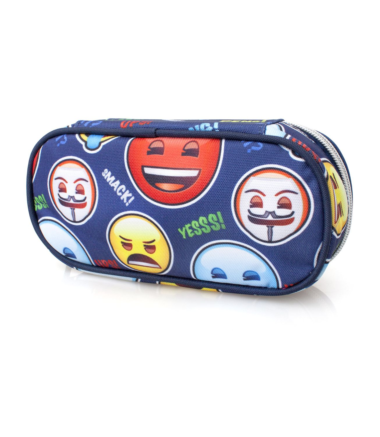 Oval Pencil Case Blue MAD EMOJI Official – image 2