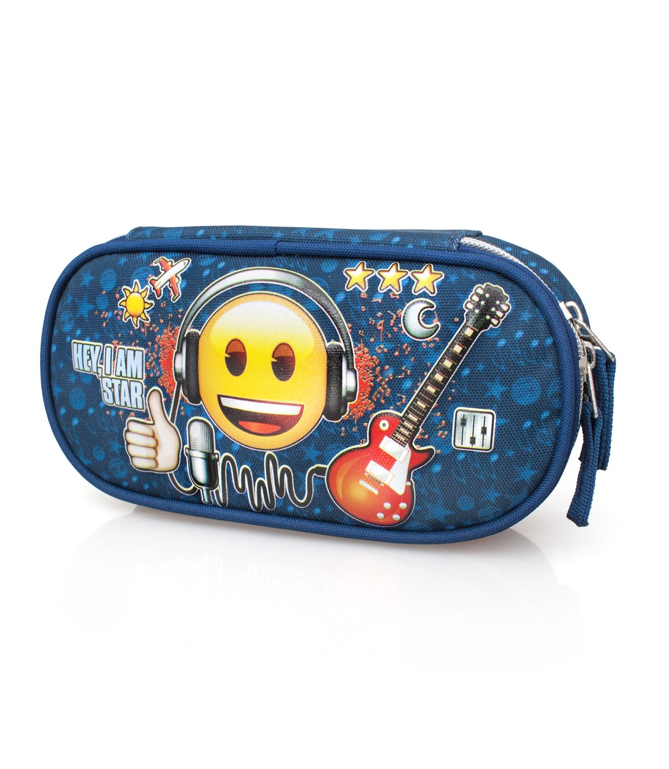 EMOJI Official Oval Pencil Case ROCK STAR