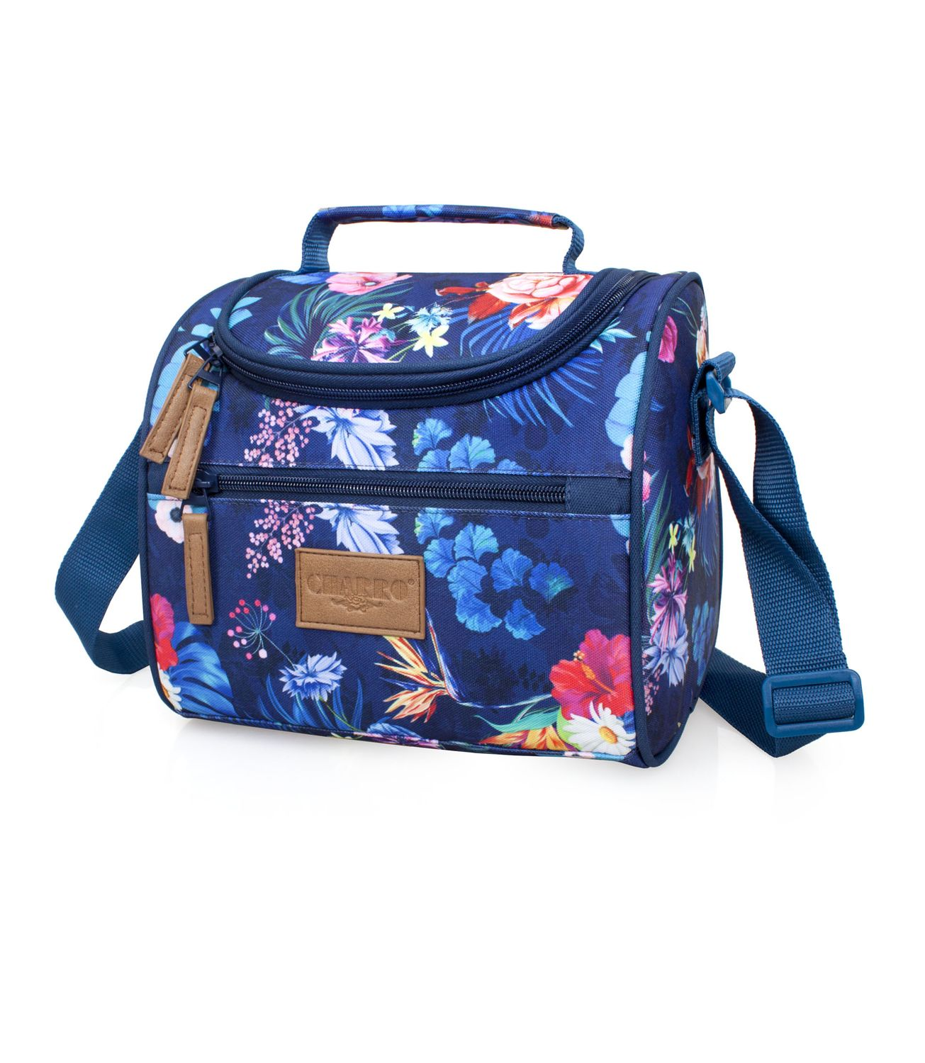 EL CHARRO Cooler Lunch Bag Blue FLOWERS – image 1