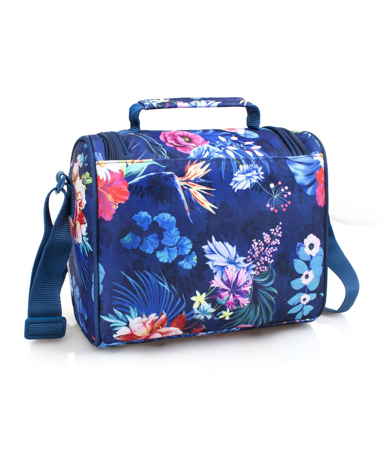 EL CHARRO Cooler Lunch Bag Blue FLOWERS – image 2
