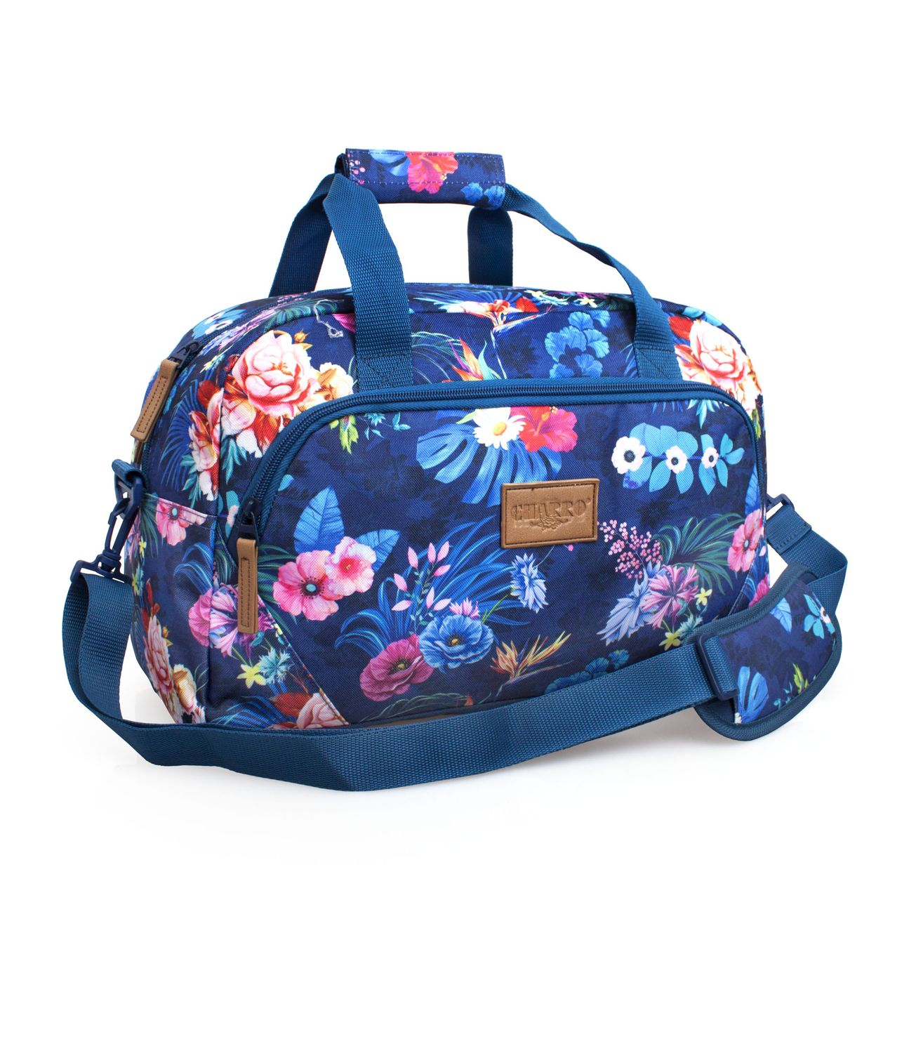 EL CHARRO Travel Bag Blue FLOWERS – image 1