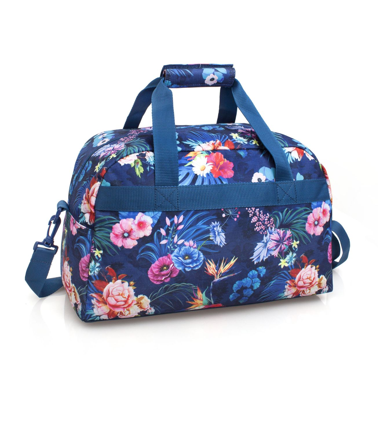 EL CHARRO Travel Bag Blue FLOWERS – image 2