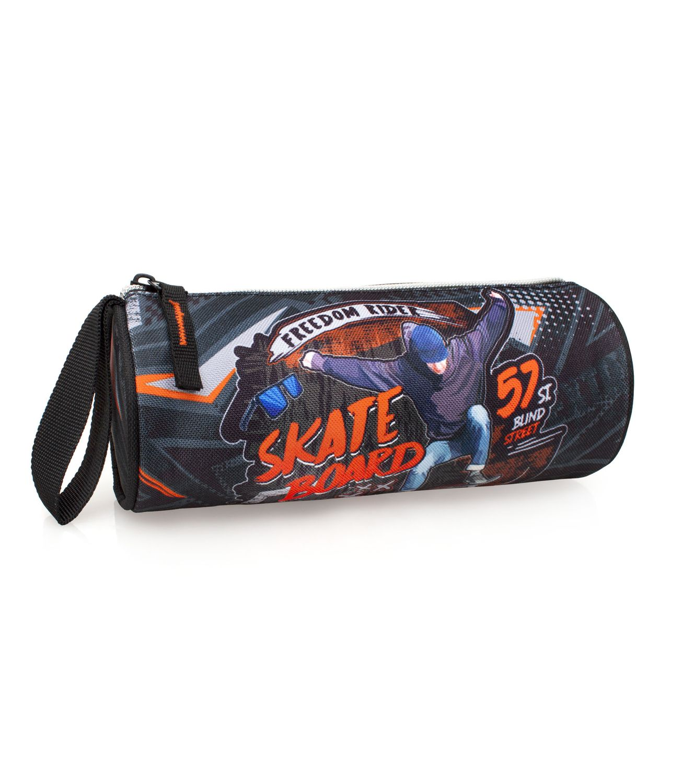 EL CHARRO Tube Pencil Case SKATE BOARD