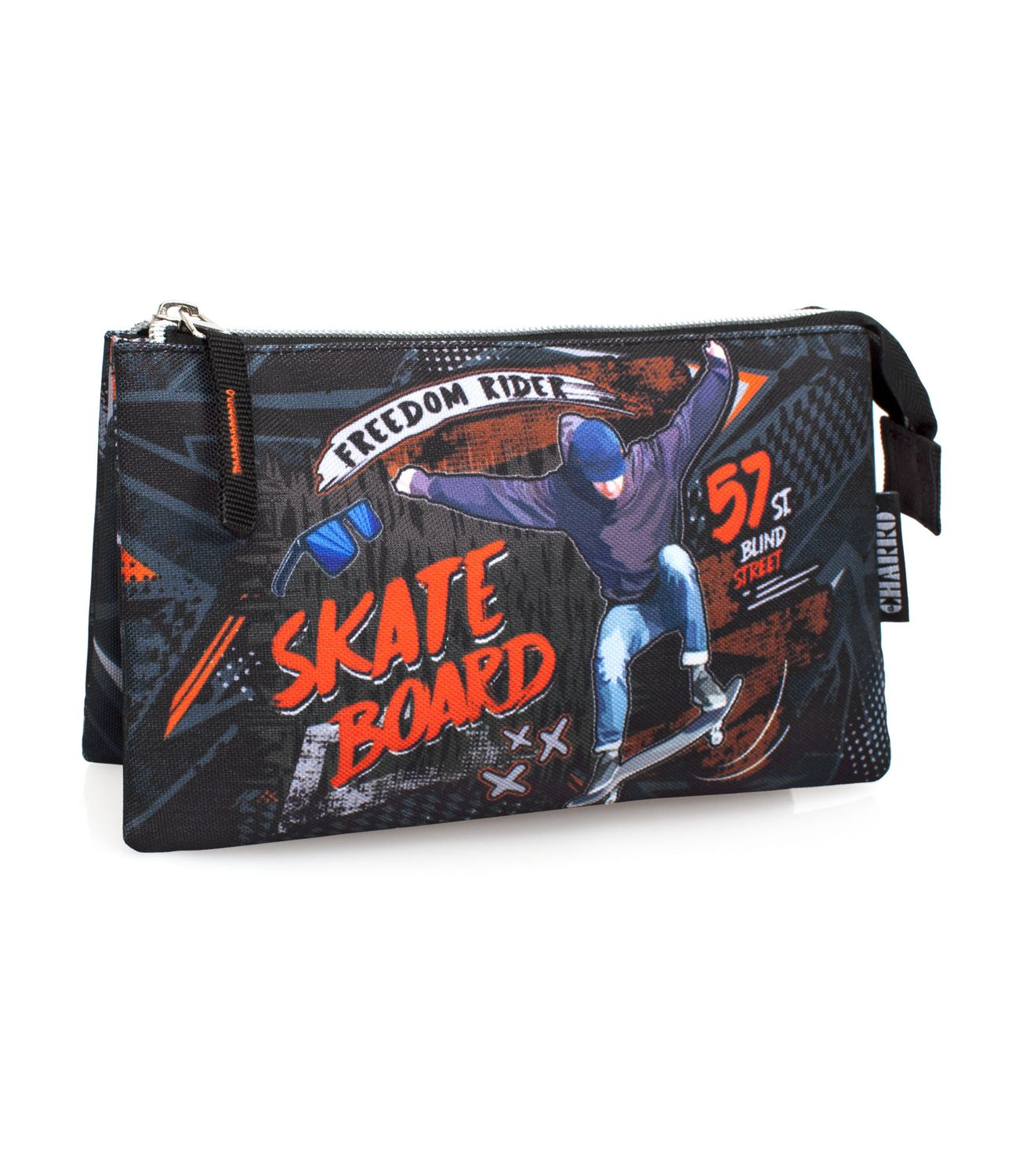 EL CHARRO Triple Pencil Case SKATE BOARD