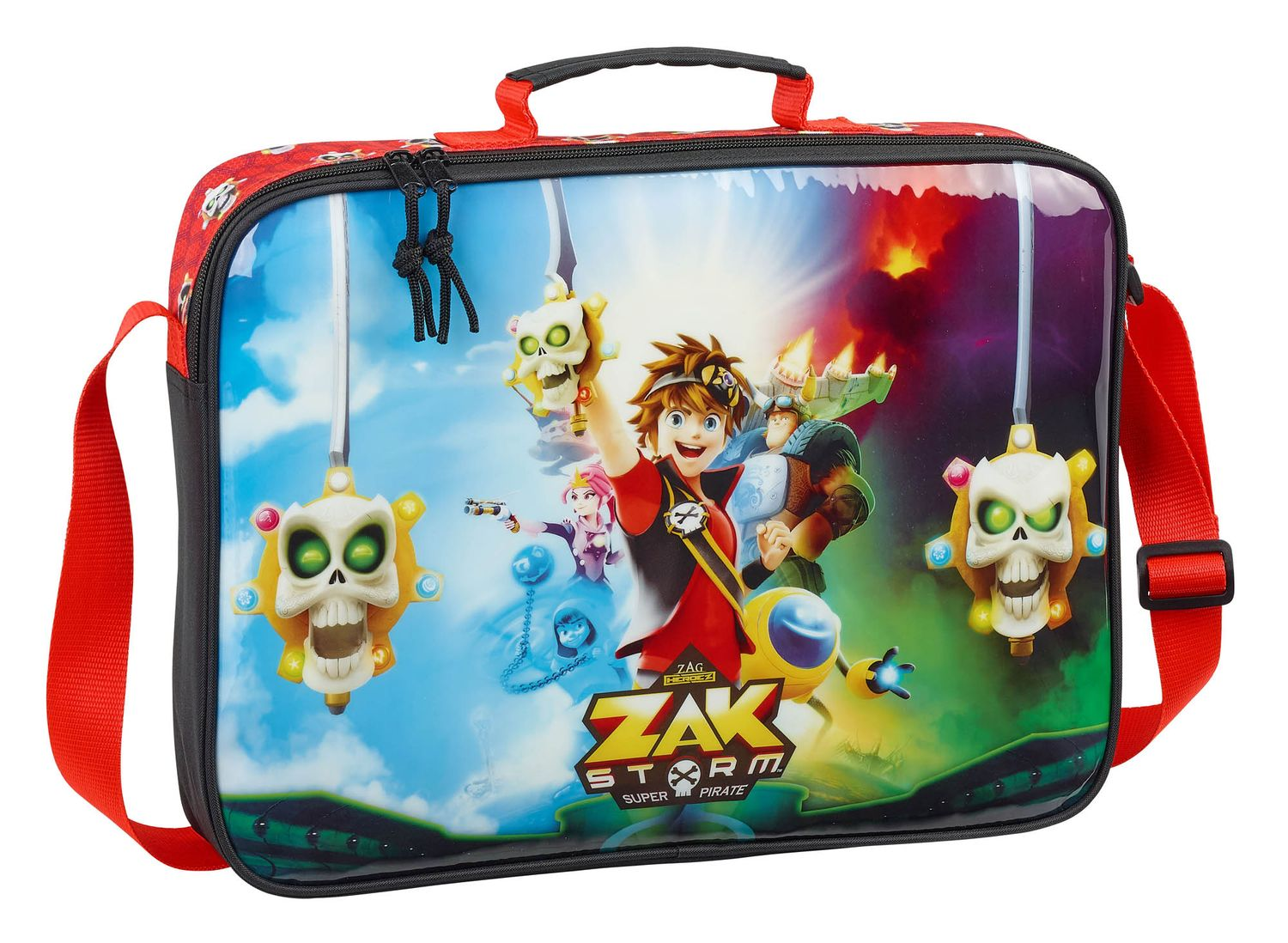 Zak Storm School Briefcase Messenger Shoulder Bag – image 1