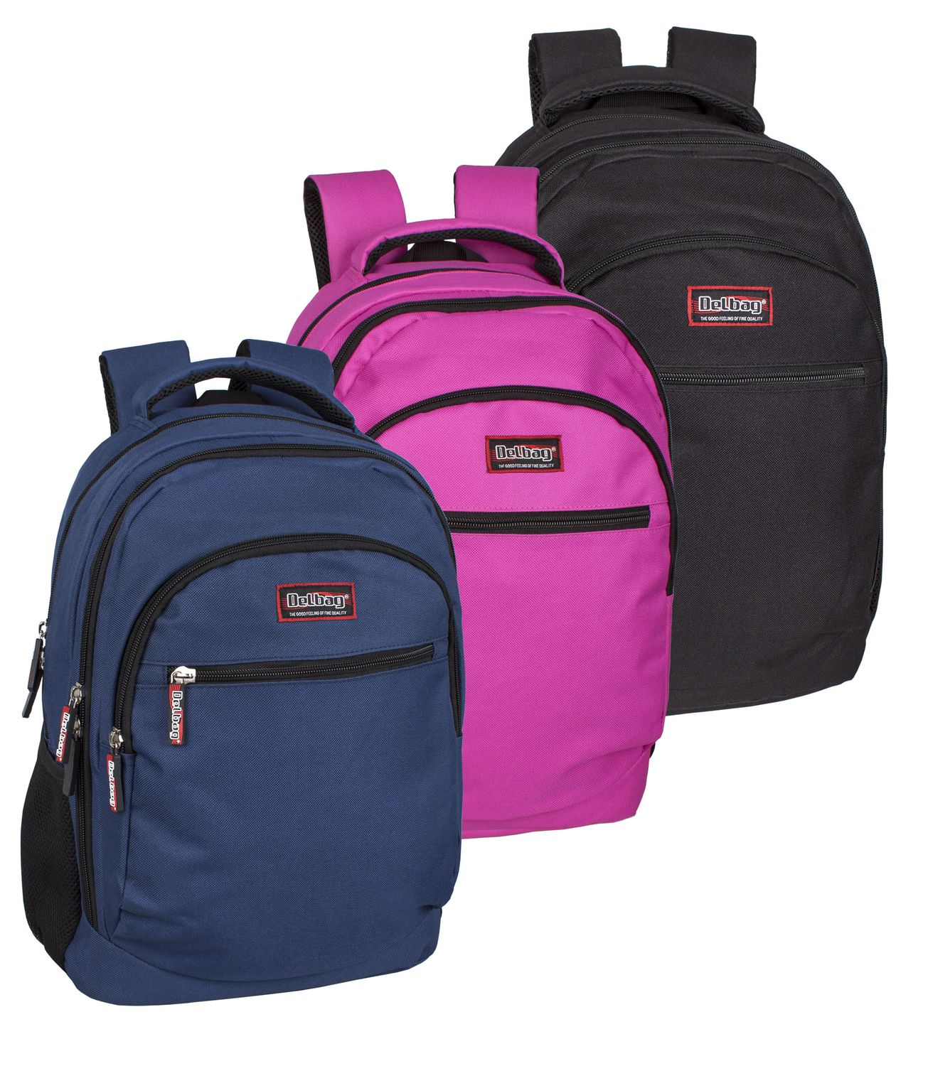 Delbag Triple Compartment Laptop Backpack Multicolour – image 1