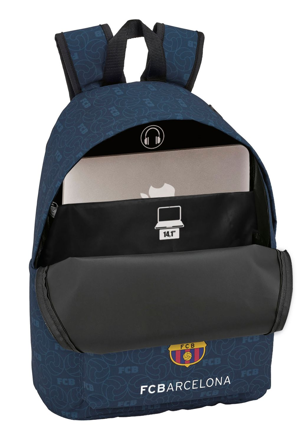 "F.C. Barcelona Multimedia Laptop Backpack 14,1""  – image 2"